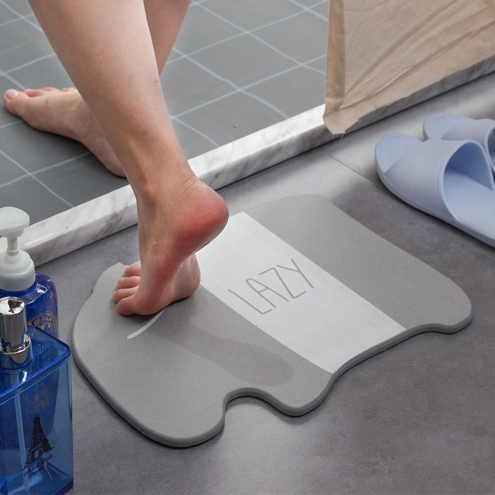 愛美百貨│馬來貘造型珪藻土矽藻土吸水地墊 浴室踏墊