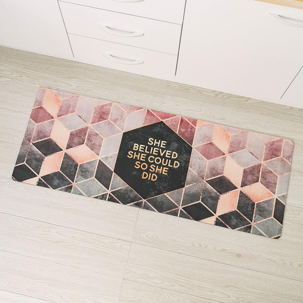 愛美百貨 時尚美型PVC皮革地墊 玄關墊 廚房地墊 45x120公分