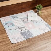 愛美百貨│90x90CM 純棉舒柔可機洗布藝防滑絎縫墊 沙發墊 坐墊 地墊