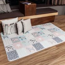 愛美百貨│90x180CM 純棉舒柔可機洗布藝防滑絎縫墊 沙發墊 坐墊 單人床墊 地墊 保潔墊