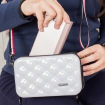 愛美百貨│菱格紋可肩背多功能行李箱造型 迷你旅行收納過夜包