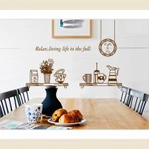 愛美百貨│限時下殺↘ 室內裝潢設計 廚房置物架造型 壁貼 牆貼