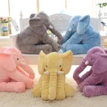 愛美百貨│超柔軟療癒系大象抱枕 嬰兒抱枕 大象絨毛布偶 五色可選
