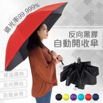 愛美百貨 | 降溫隔熱反向黑膠自動開收傘