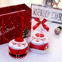 愛美百貨|創意造型聖誕毛巾 蛋糕方巾 聖誕節 聖誕老公公 聖誕老人 聖誕禮物 手帕