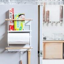 愛美百貨│日式冰箱分類掛架 磁吸式收納架 紙巾架/鉤物架/調味瓶架/收納架/面紙盒架