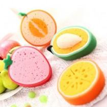 愛美百貨│水果造型海棉刷 海綿菜瓜布 隨機三入組