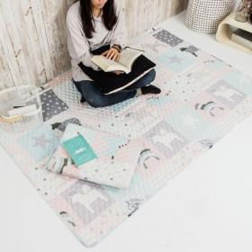 愛美百貨│110x180CM 純棉舒柔可機洗布藝防滑絎縫墊  坐墊 單人床墊 爬行墊 遊戲墊 地墊 保潔墊