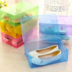 愛美百貨│簡易式透明鞋盒 收納盒 收納箱 隨機5入組