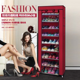 愛美百貨│九層簡易防塵鞋櫃DIY組合式收納置物鞋架