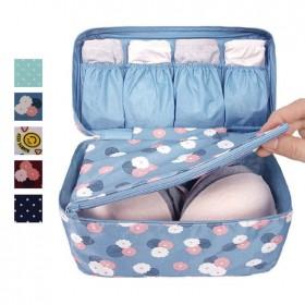 愛美百貨│旅行收納包 內衣褲收納 盥洗包 防潑水 花布款