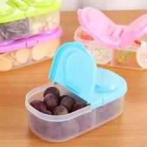 愛美百貨|雙格雙蓋食物保鮮盒 儲物盒 收納盒 G035