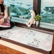 愛美百貨│50x150CM 純棉舒柔可機洗布藝防滑絎縫墊 沙發墊 坐墊 地墊