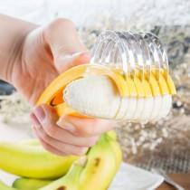 愛美百貨│不鏽鋼神奇切香蕉神器 香蕉切片器