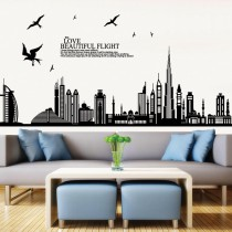 愛美百貨│限時下殺↘室內裝潢設計 飛鳥城市 壁貼 牆貼