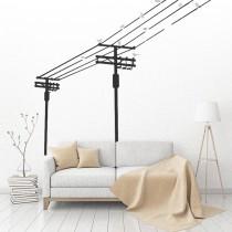 愛美百貨│室內裝潢設計 電線桿造型 壁貼 牆貼