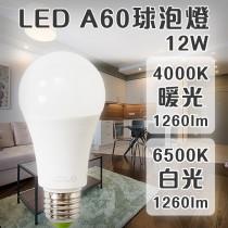 愛美百貨|樂亮LED照明燈泡 A60球泡12W 4000K暖光/6500K白光 CNS認證 節能 省電燈泡 U021