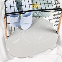 愛美百貨│刺蝟造型珪藻土矽藻土吸水地墊 浴室踏墊
