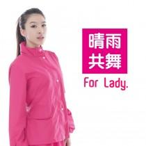 愛美百貨│(NG福利品)晴雨共舞裙式套裝風雨衣 XL號
