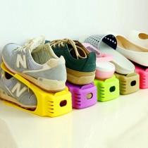 愛美百貨|雙層鞋子收納鞋架 一體式鞋架  空間節省 A024
