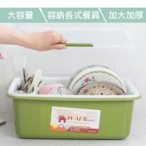 愛美百貨|手掀式餐具收納瀝水籃 廚房碗籃架 G030