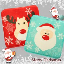 愛美百貨│法蘭絨聖誕坐墊椅墊 耶誕聖誕老公公麋鹿 柔軟/防滑/加厚/隨機 E006-RA