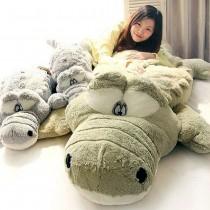 愛美百貨|160CM 鱷魚先生抱枕 男朋友抱枕 絨毛娃娃 靠枕 聖誕禮物 共2色 M019