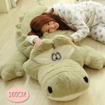 愛美百貨│160CM 鱷魚先生抱枕 男朋友抱枕 絨毛娃娃 靠枕 聖誕禮物 共2色