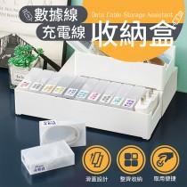 愛美百貨|樂嫚妮 數據線充電線收納盒 集線盒 I101