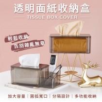 愛美百貨|樂嫚妮 透明面紙收納盒 分隔收納盒 衛生紙 紙巾收納 I103