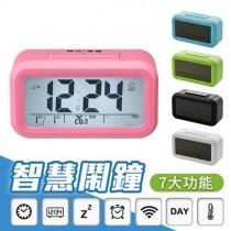愛美百貨│智慧型LED貪睡電子鬧鐘 (顏色隨機出貨)
