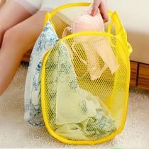 愛美百貨│摺疊式收納洗衣籃 折疊收納洗衣袋 顏色隨機出貨